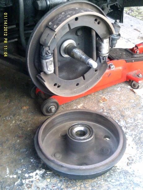 Drum Brake Lining : Re lining y type brake shoes register
