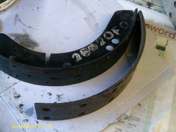 Brake Shoe Rivets : Re lining y type brake shoes register