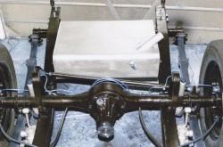 The Panhard Rod of the YA behind the YA rear axle assembley.
