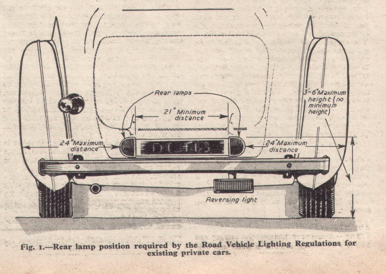 Lighting Regs pre 1956